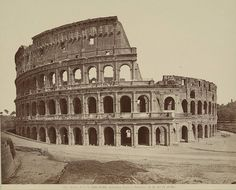 The Colosseum, picture taken between 1865-95 by Fratelli Alinari (Rome, Italy)