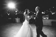 Merritt Mansion, Pasadena   Tracy Dodson Photography #wedding #reception #fatherdaughterdance #stringlighting #bistrolighting #lantern #canopy #eventlighting #weddinglighting