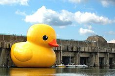 Once again, what looks like someone having a lot of fun on photoshop is actually very real. This enormous rubber ducky belongs to Four media and has been strategically placed in harbors all over the world.