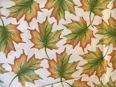 "Leaves of Autumn Fabric by Joan Pace Baker Signature Classics 45"" x 76"" Uncut #OakhurstTextiles"