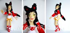 Gehäkelte Puppe - Fanmade vom Online-PC-Game Leage of Legends (LoL). Character: Ahri