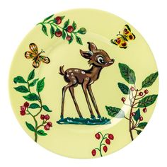 nathalie-lete- #fawn -dessert- #plate -pale-yellow