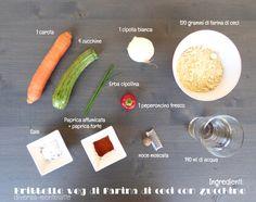 Ingredienti frittelle veg di farina di ceci e zucchine