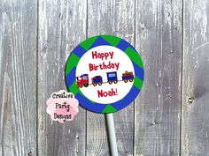 Train Cupcake Toppers - With or Without Photo by CreativePartyDesigns on Etsy