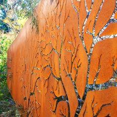 corten steel metal tree