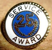SERVICE AWARD 25 Pin $3.97 each! Lots more YEARS at www.canadianlapelpins.ca Canadian Lapel Pins Online Store