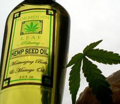 Forbidden Leaf Hemp Massage Oil