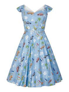 Collectif Vintage Sandra Car Swing Dress