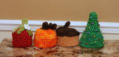 Newborn Handspun Photo Prop Hat Pack CROCHET by InnerHooker, $10.00