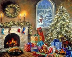 Nicky Boehme - decorated for Christmas