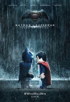 Lego Batman v Superman fake movie poster