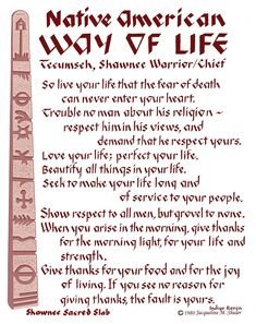 First Nation's Way of Life.The Words of the Wise Man Tecumseh. Native American Prayers, Native American Spirituality, Native American Wisdom, Native American History, American Indians, Native American Cherokee, Native American Beauty, American Life, American Country