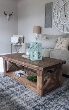 Coffee Table, X-frame coffee Table, Anawhite Coffee Table, Ana White Coffee Table, DIY Coffee Table