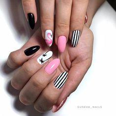 Продолжаю тему тропического маникюра А вы любите изображения фламинго как люблю их я? Blue Acrylic Nails, Summer Acrylic Nails, Neon Nails, Summer Nails, Chic Nails, Stylish Nails, Trendy Nails, Nail Art Stencils, Flamingo Nails