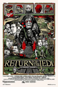 Original Star Wars Trilogy Set by Tyler Stout This is it, the final release of the Mondo Star Wars Screen Print Series! These three movie posters for the original Star Wars trilogy by Tyler Stout are. Star Wars Film, Star Wars Episoden, Star Wars Poster, Movie Poster Art, Poster On, Art Posters, Dark Vader, Le Retour Du Jedi, Kunst Poster