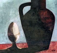 Frantisek Tichy Egg 1940 painting oil on canvas (Czech Rep.)