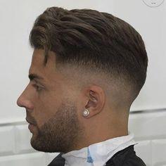 Tapered Haircut, Fade Haircut, Barber Haircuts, Haircuts For Men, Hairstyles Haircuts, Straight Hairstyles, Short Hair Cuts, Short Hair Styles, Beard Fade