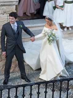 The wedding of The Duke Of Wellingtons daughter Lady Charlotte Wellesley and Alejandro Santo Domingo in Granada, Spain