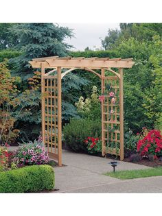 Berkeley Arbor - Adjustable Width Cedar Arbor   Gardeners.com