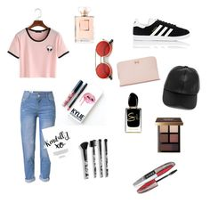 """Just for fun"" by nelly-cassie on Polyvore featuring WithChic, adidas, ZeroUV, LULUS, Kylie Cosmetics, Giorgio Armani, Bobbi Brown Cosmetics, Torrid, L'Oréal Paris and Ted Baker"