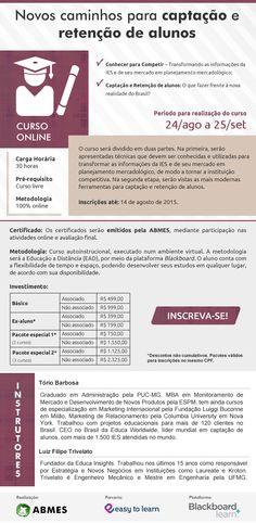 """Newsletter para o curso """"Novos caminhos para captação e retenção de alunos"""" - Promovido pela ABMES Virtual"""