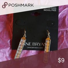Lane Bryant Dangle Crystal and Silver Earrings. These are perfect for your little black dress. Dangle silvertone earrings. Lane Bryant Jewelry Earrings