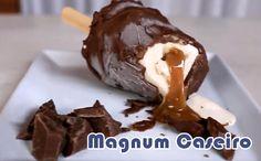 Como fazer sorvete magnum caseiro #sorvete #receitas #verão
