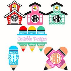 Back to School Pack with Color Pencil Monogram Split and Round Circle Frame Cuttable Design Cut File. Vector, Clipart, Digital Scrapbooking Download, Available in JPEG, PDF, EPS, DXF and SVG. Works with Cricut, Design Space, Sure Cuts A Lot, Make the Cut!, Inkscape, CorelDraw, Adobe Illustrator, Silhouette Cameo, Brother ScanNCut and other compatible software.