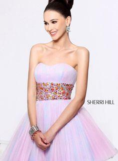 2014 Sherri Hill 21163 Pink Cocktail Dresses