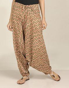 Cotton Printed Low Crotch Harem Pant