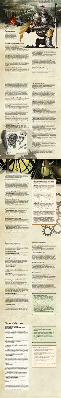 Gearforged: DnD 5e Homebrew