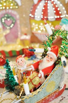Set up fun vingnettes throughout your home for Christmas....St. Nicolas Day...or any other holiday of your choosing.....☃