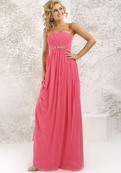 Cheap Fancy Sleeveless A-line Floor-length Strapless Dress Grad Dresses, Long Bridesmaid Dresses, Dresses Uk, Cheap Dresses, Bridesmaids, Fashion Dresses, Wedding Dresses, Chiffon Evening Dresses, Evening Gowns