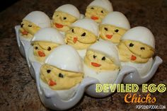 Deviled Egg Chicks! Perfect for an Easter Brunch!