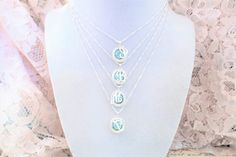 Swarovski Bridesmaid Pendant With Initial, 12mm, Wedding Party Gifts, DKSJewelrydesigns, FREE SHIPPING.