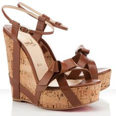 Christian Louboutin Mesdames Miss Cristo 140mm Wedges Brown/OUTLET!!!