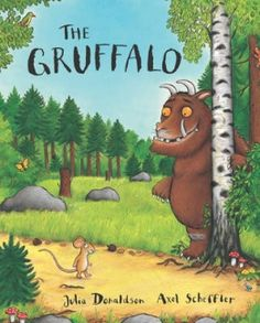 Walk further into the deep dark wood, and discover what happens when the quick-thinking mouse comes face to face with an owl, a snake and a hungry gruffalo ...This sturdy board book edition of the bestselling modern classic is perfect for even the youngest child. Lovely book about bravery and perception.  Age preschool - 3rd grade