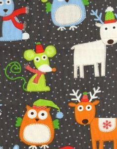 Christmas+Fabric+Fat+Quarter+de+Pop-Up+Shop+sur+DaWanda.com