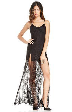 For Love & Lemons Longhorn Maxi Dress in Black XS - M   DAILYLOOK