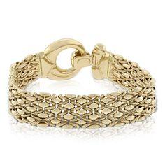 Toscano Stampato Link Bracelet | Ben Bridge Jeweler Gold Bangles, Jewelry Rings, Jewelery, Silver Jewelry, Gold Link Bracelet, Link Bracelets, Gem Show, Gold Fashion, Women's Fashion