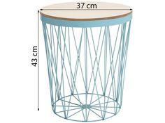 Stolik Storage II 37x43 cm niebieski (5)