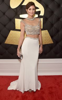 Caroline D'Amore from Grammys 2017 Red Carpet Arrivals