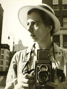 Vivian Maier :: New York City, Self-Portrait, September 10th, 1955 - Really enjoyed watching how they discovered this closet photographer-nanny! Amazing!
