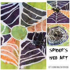 Let's Learn English for Kids: Spider Web art  for Halloween