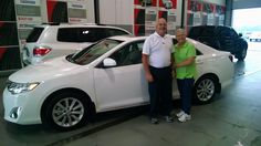Mr. & Mrs. Taulman with their Toyota Camry! http://www.carvertoyota.com