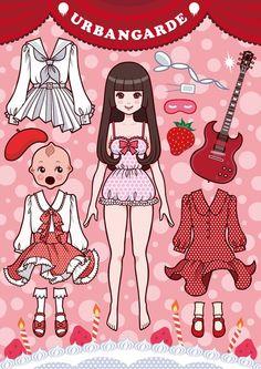 Japanese paper dolls - 7