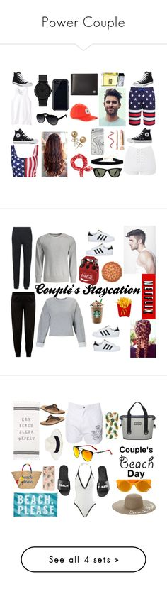 """""""Power Couple"""" by photographystyle on Polyvore featuring Russell Athletic, Topshop, Converse, Gucci, Ray-Ban, rag & bone, Topman, Bling Jewelry, Victorinox Swiss Army and Belkin"""