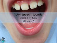 How do you know if your child's speech sounds are on track? Check out this easy chart to find out!