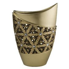 Bejeweled Sunflower Decorative Vase