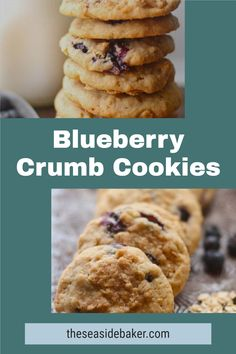 Blueberry crumble is a favorite summertime dessert. And here it is in cookie form, making it easy to take to summer parties, picnics, to the beach or by the pool. No spoons, plates or napkins required! Or add some ice cream and make a delicious blueberry crumble cookie sandwich. #blueberryrecipe #cookierecipe #summertimedessert Dessert Drinks, Dessert For Dinner, Party Desserts, Cookie Desserts, Cookie Recipes, Sandwich Cookies, Sandwich Recipes, Popular Cookie Recipe, Easy Homemade Ice Cream